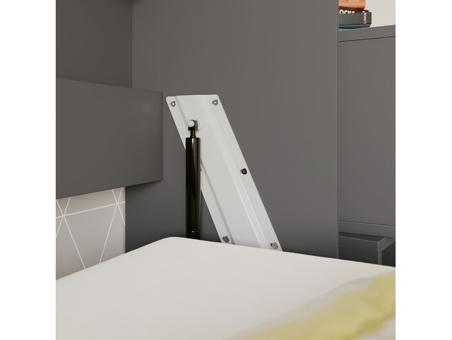 SMARTBett Folding wall bed Standard Comfort 90x200 Horizontal Anthracite/Wild Oak with gas springs