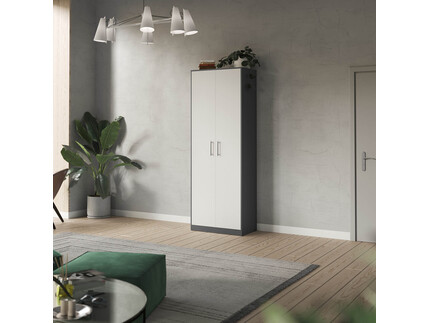 SMARTBett cabinet 80cm 2 doors in anthracite/ white