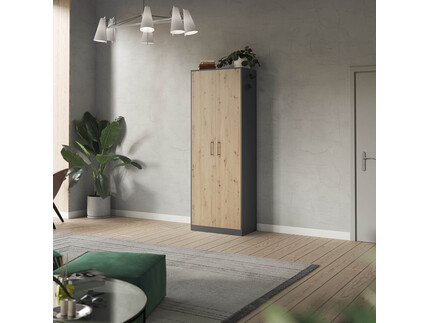 SMARTBett cabinet 80cm 2 doors in anthracite/ wild oak