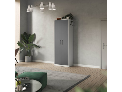 SMARTBett cabinet 80cm 2 doors in white/ anthracite