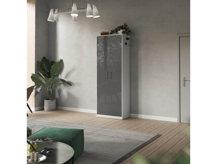 SMARTBett cabinet 80cm 2 doors in white/ anthracite high...