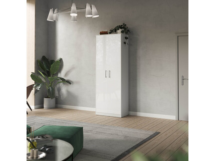 SMARTBett cabinet 80cm 2 doors in white/ white high glossy