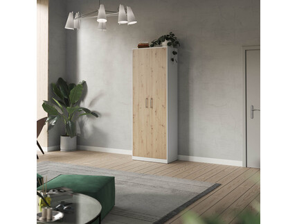 SMARTBett cabinet 80cm 2 doors in white/ wild oak