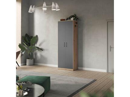 SMARTBett cabinet 80cm 2 doors in wild oak / anthracite