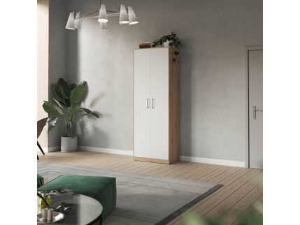 SMARTBett cabinet 80cm 2 doors in wild oak / white