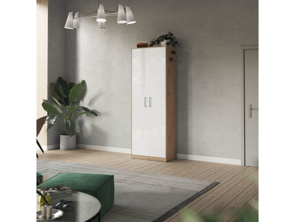 SMARTBett cabinet 80cm 2 doors in wild oak / white high...