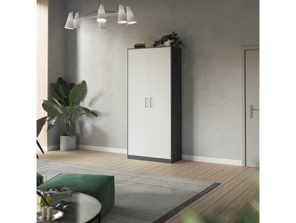 SMARTBett cabinet 100cm 2 doors in anthracite/ white