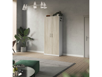 SMARTBett cabinet 100cm 2 doors in white/ oak Sonoma