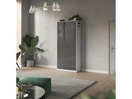 SMARTBett cabinet 100cm 2 doors in white/ anthracite high...