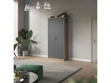 SMARTBett cabinet 100cm 2 doors in wild oak / anthracite