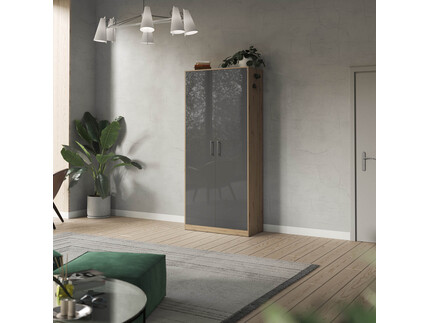 SMARTBett cabinet 100cm 2 doors in wild oak / anthracite...