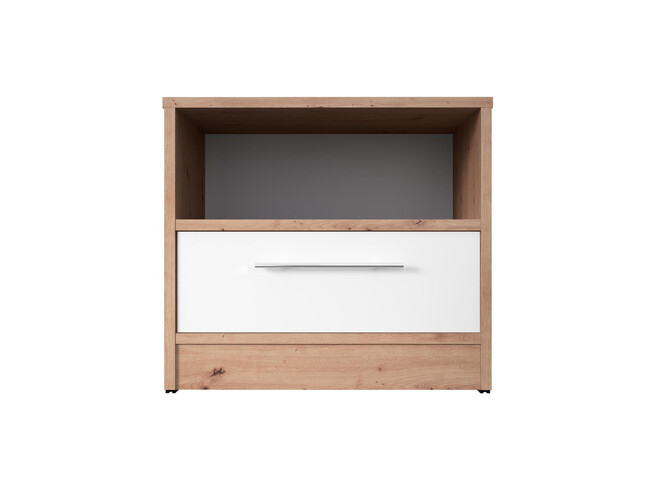 Bedside table Basic / Standard 45 cm with a drawer wild oak/ white