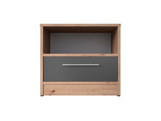 Bedside table Basic / Standard 45 cm with a drawer wild oak/anthracite