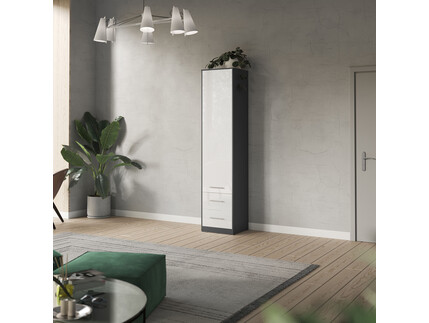 SMARTBett cabinet 50cm 2 doors in anthracite/ white high...