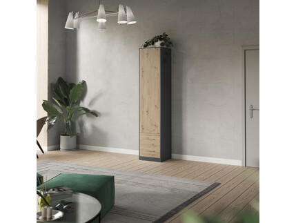 SMARTBett cabinet 50cm in anthracite/ wild oak