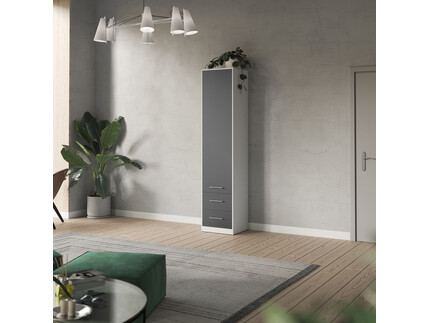 SMARTBett cabinet 50cm in white/ anthracite