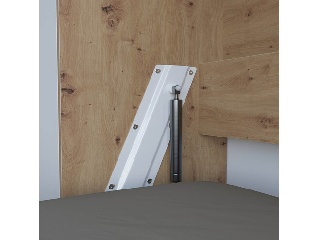 SMARTBett Folding wall bed Standard Comfort 120x200 Vertical Wild Oak/White with gas springs