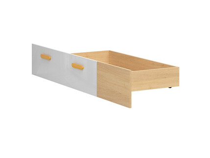 WEKKER bed drawer roller bed drawer in oak / white gloss...