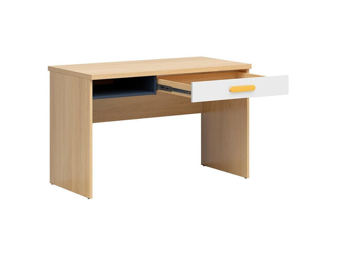 WEKKER youth room childrens room 9 pieces in oak/navy blue/white gloss/yellow
