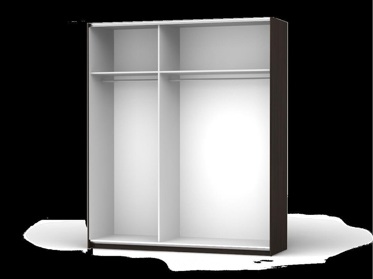 Sliding Door Wardrobe Colin Width 183 Cm Venge White Gloss 61395
