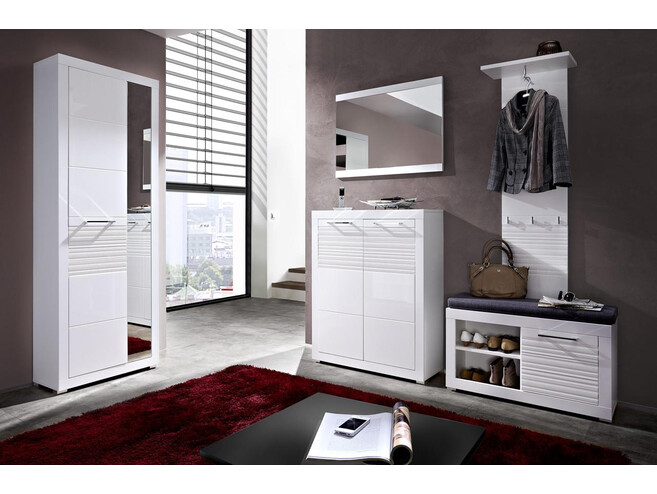 Wardrobes Set  FLAMES  (5 pcs.)White/White High gloss