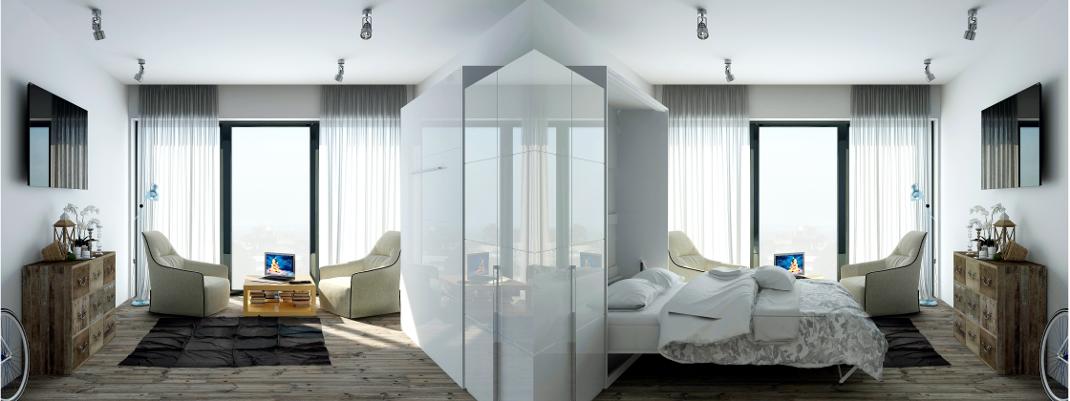 das 160x200cm schrankbett von smartbett ein schrank bett wie ein m. Black Bedroom Furniture Sets. Home Design Ideas