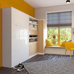 Schrankbett 120 x 200 cm g nstig kaufen bs moebel for Jugendzimmer klappbett